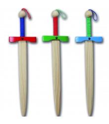 Espadas de madera en colores Pack 12 unidades