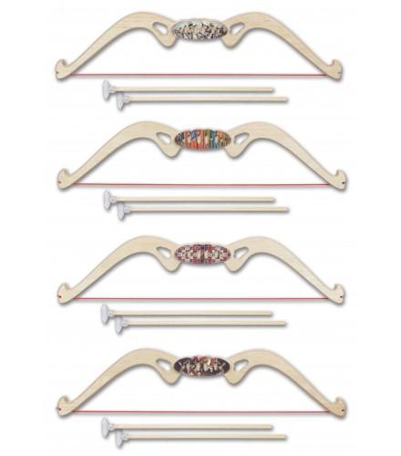 Arco con relieves y puño ovalado con decoración, pack 12 uds