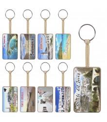 Llaveros de madera personalizables con fotografía, pack 32 uds