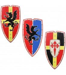 Escudos de madera medievales tamaño XL, pack 12 uds