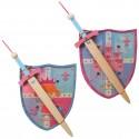Set escudo y espada modelo niña, 12 uds