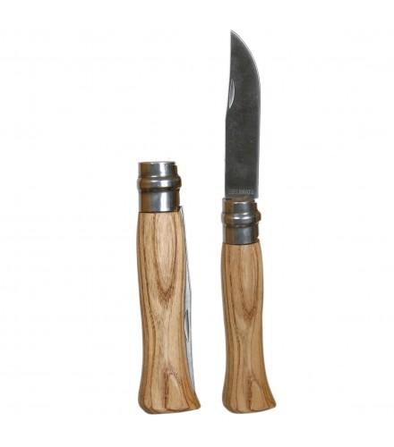 Navaja de madera natural pulida, pack de 12 uds
