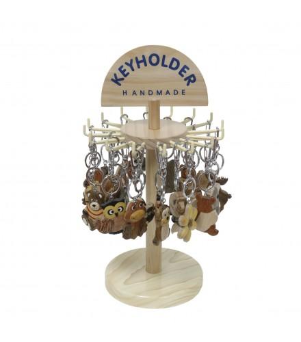 Expositor para llaveros de madera