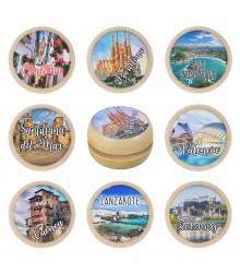 Yoyós de madera personalizables con foto, pack de 24 uds