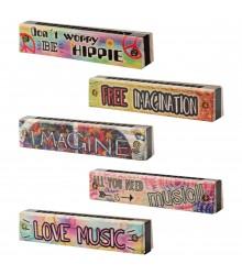 Armónica de madera con frases en inglés, pack de 18 uds