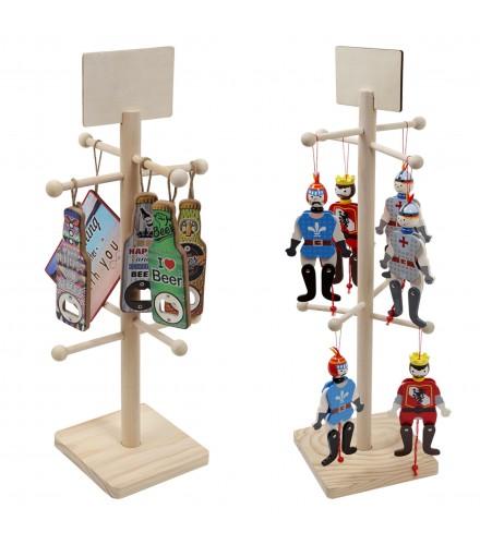 Expositor para muñecos articulados de madera, 1 ud.