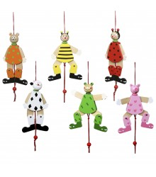 Muñecos móviles con cuerda surtidos, pack de 20 uds