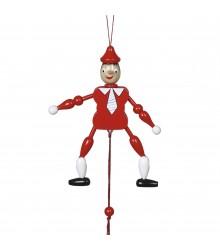 Pinocho con cuerda de 12 cm., pack de 24 uds