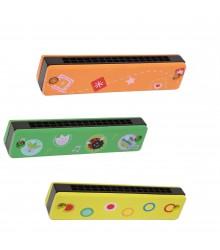 Armónicas de madera personalizables, pack de 18 uds