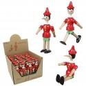 Muñeco Pinocho articulado con expositor, pack 24 uds
