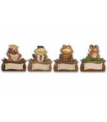 Imanes de madera con ranas
