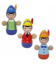 Muñecos tentetiesos de madera con forma de Pinocho, pack 24 uds