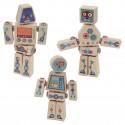 Surtido de robots desmontables con imanes, pack 12 uds