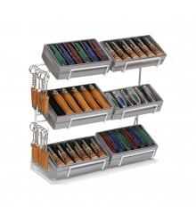 Expositor metálico para navajas de madera, 1 ud.