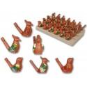Pajaritos de agua de cerámica marrón, pack de 40 uds