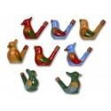 Pajaritos de agua de cerámica pintada, pack de 40 uds
