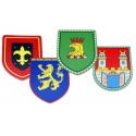 Escudos medievales surtidos, pack de 12 uds