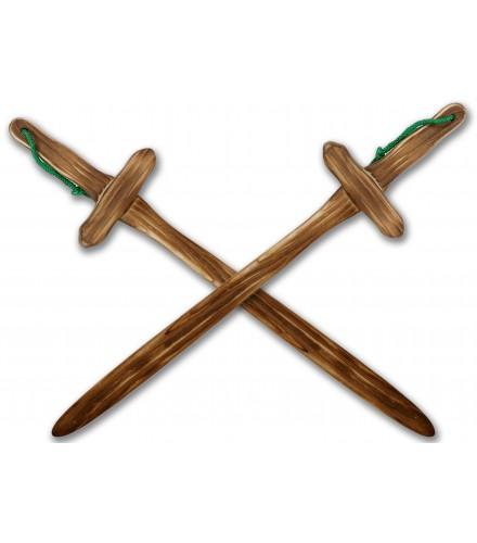 Espada medieval decorada a fuego