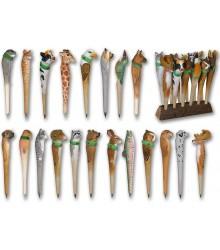 Bolígrafos de animales tallados