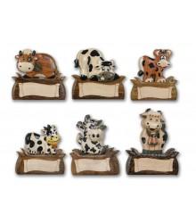 Imanes de madera con vacas