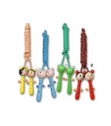 Saltador infantil con muñequitos de colores, pack de 20 udes.