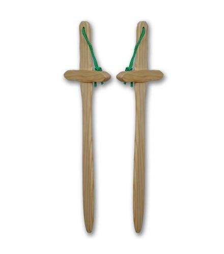 Espada de pino natural, pack de 12 uds