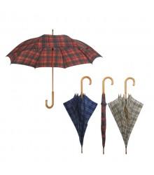 Paraguas largo de cuadritos, pack de 12 uds