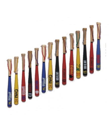 Bate béisbol grande serigrafiado especial, pack de 11 uds